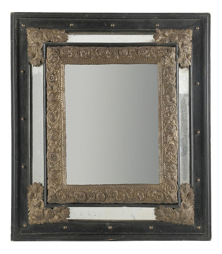 19th CENTURY DUTCH BAROQUE STYLE MIRROR