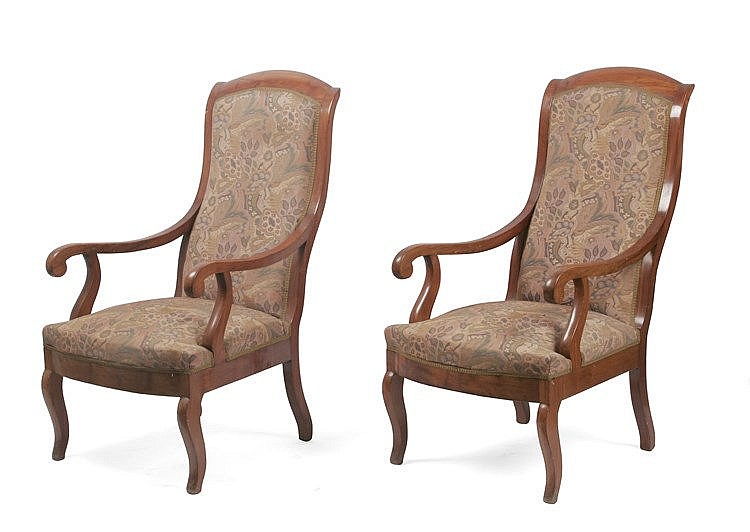 19th CENTURY PAIR OF SPANISH ELIZABETHAN PERIOD ARMCHAIRS
