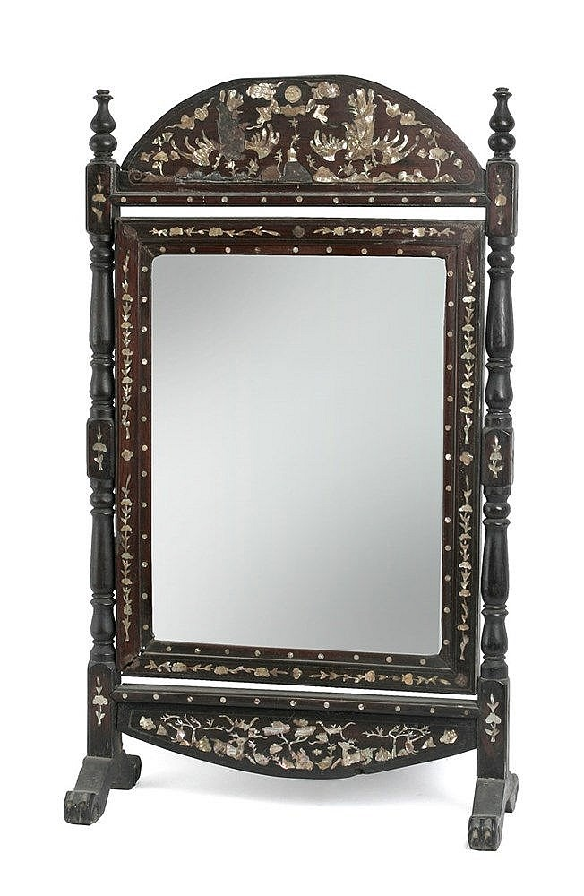 19th CENTURY CHINESE VANITY MIRROR