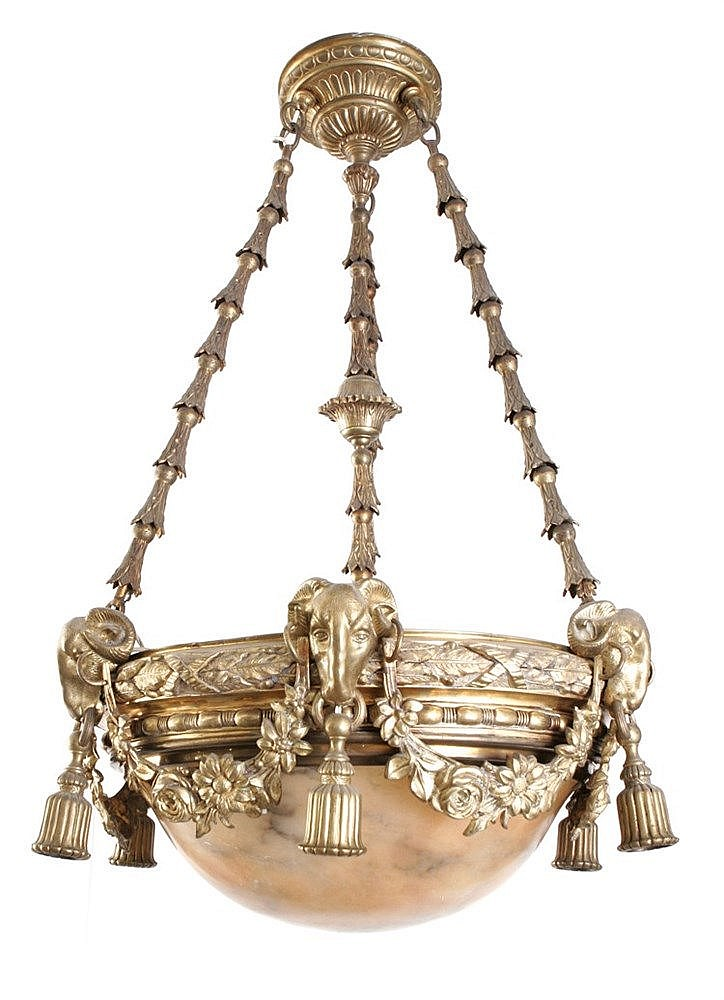 19th CENTURY FRENCH EMPIRE PERIOD CHANDELIER