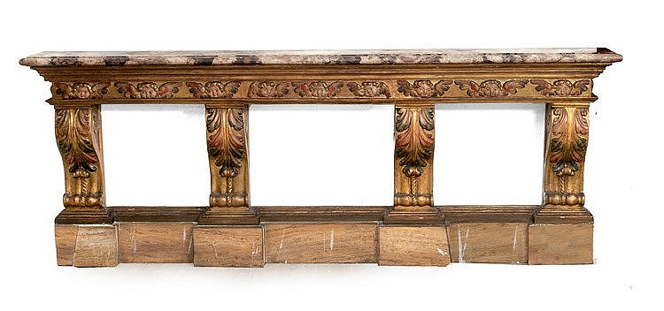 17th CENTURY BAROQUE CONSOLE TABLE