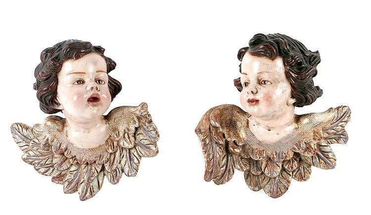 LATE 18th CENTURY-EARLY 19th. CENTURY PAIR OF 'PUTTIS'