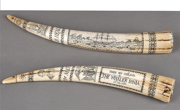 19th CENTURY ENGLISH SCRIMSHAW