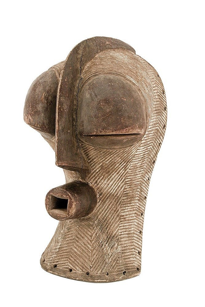 SECOND HALF OF 20th CENTURY AFRICAN MASK, SONGYE ETHNIC GROUP, DRC