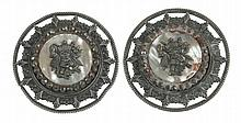 A PAIR OF 19th CENTURY BUTTONS FOR EPAULETTES