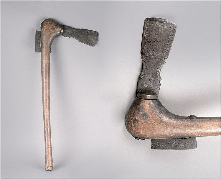 FIRST HALF OF 20th CENTURY RITUAL AXE FROM ZARAMO ETHNIC GROUP, TANZANIA
