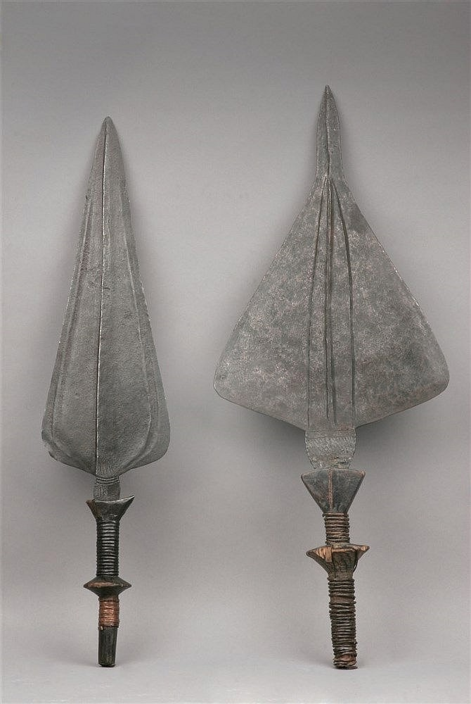 19th CENTURY PAIR OF KNIVES FROM BAKUBA ETHNIC GROUP, CONGO KINSHASA