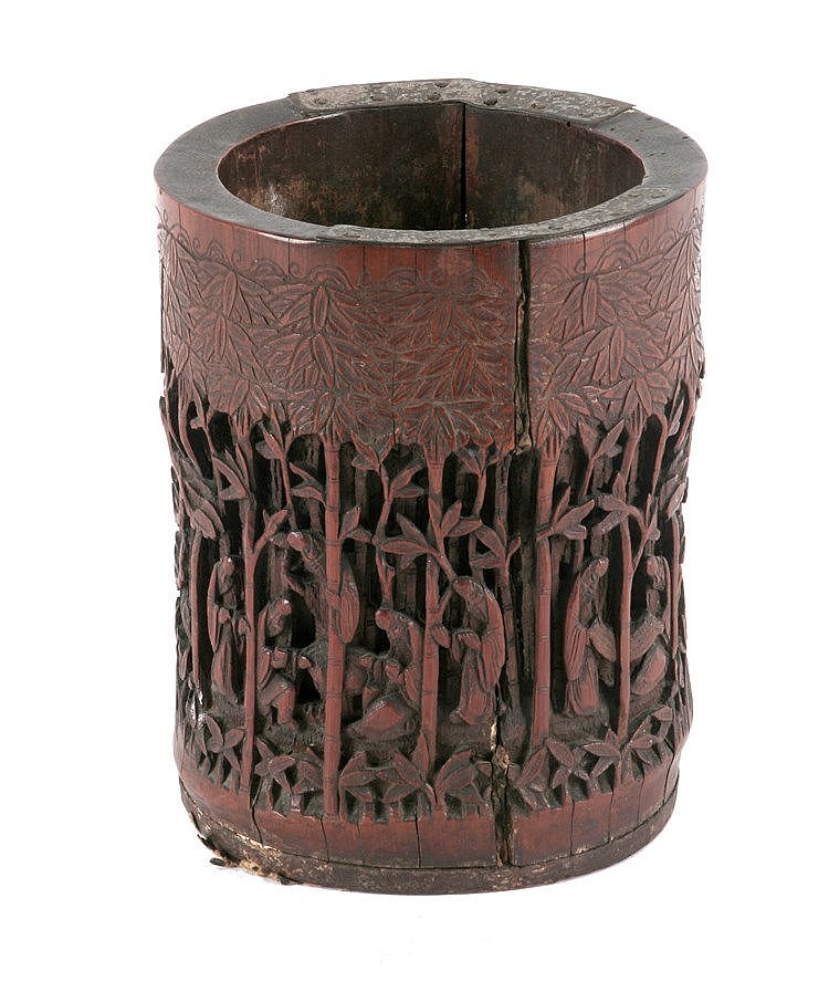 EARLY 19th CENTURY CHINESE BRUSH HOLDER