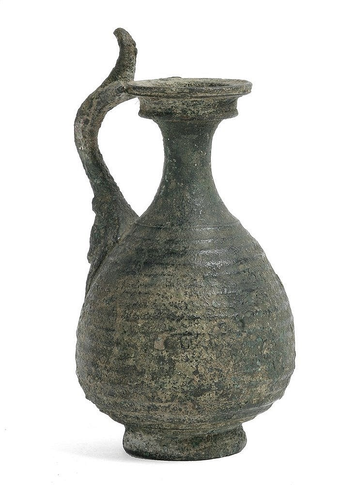 3rd-4th CENTURIES ROMAN IMPERIAL PERIOD BRONZE PITCHER