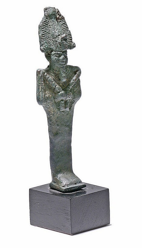 3rd CENTURY BC. BRONZE FIGURE OF GOD 'OSIRIS'