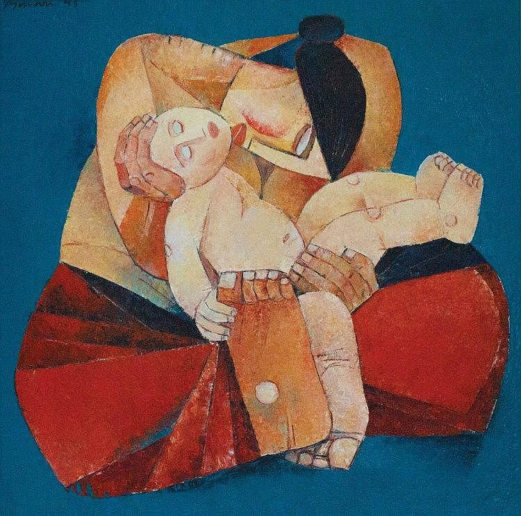 Ang Kiukok - Mother and Child