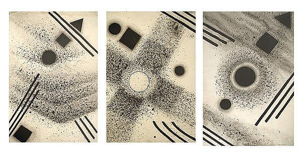 Nena Saguil- Triptych (Black and White)