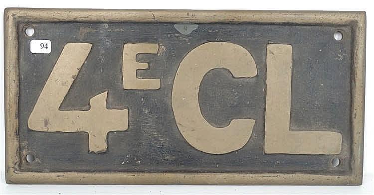 ancienne plaque en bronze des chemins de fer du congo belge. Black Bedroom Furniture Sets. Home Design Ideas