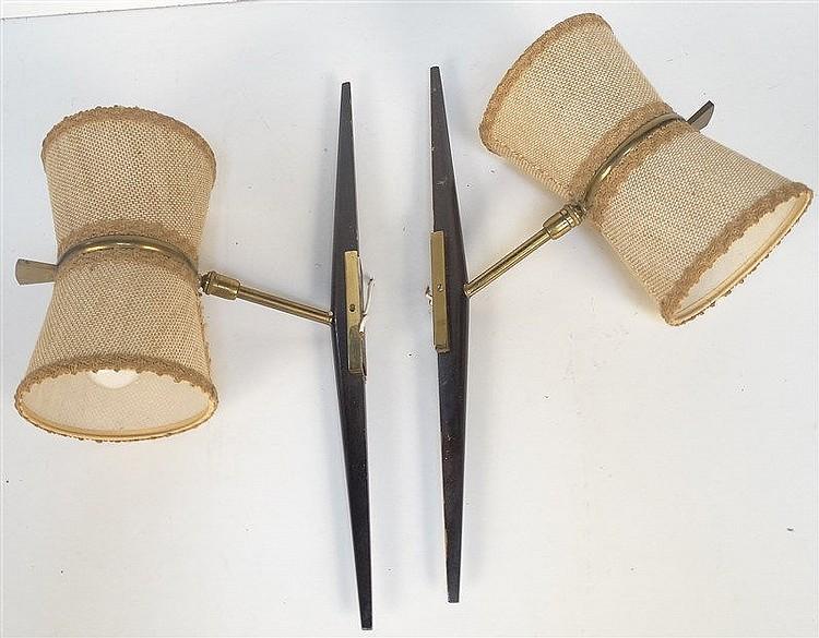 attribu ren mathieu pour lunel paire d 39 appliques bras. Black Bedroom Furniture Sets. Home Design Ideas