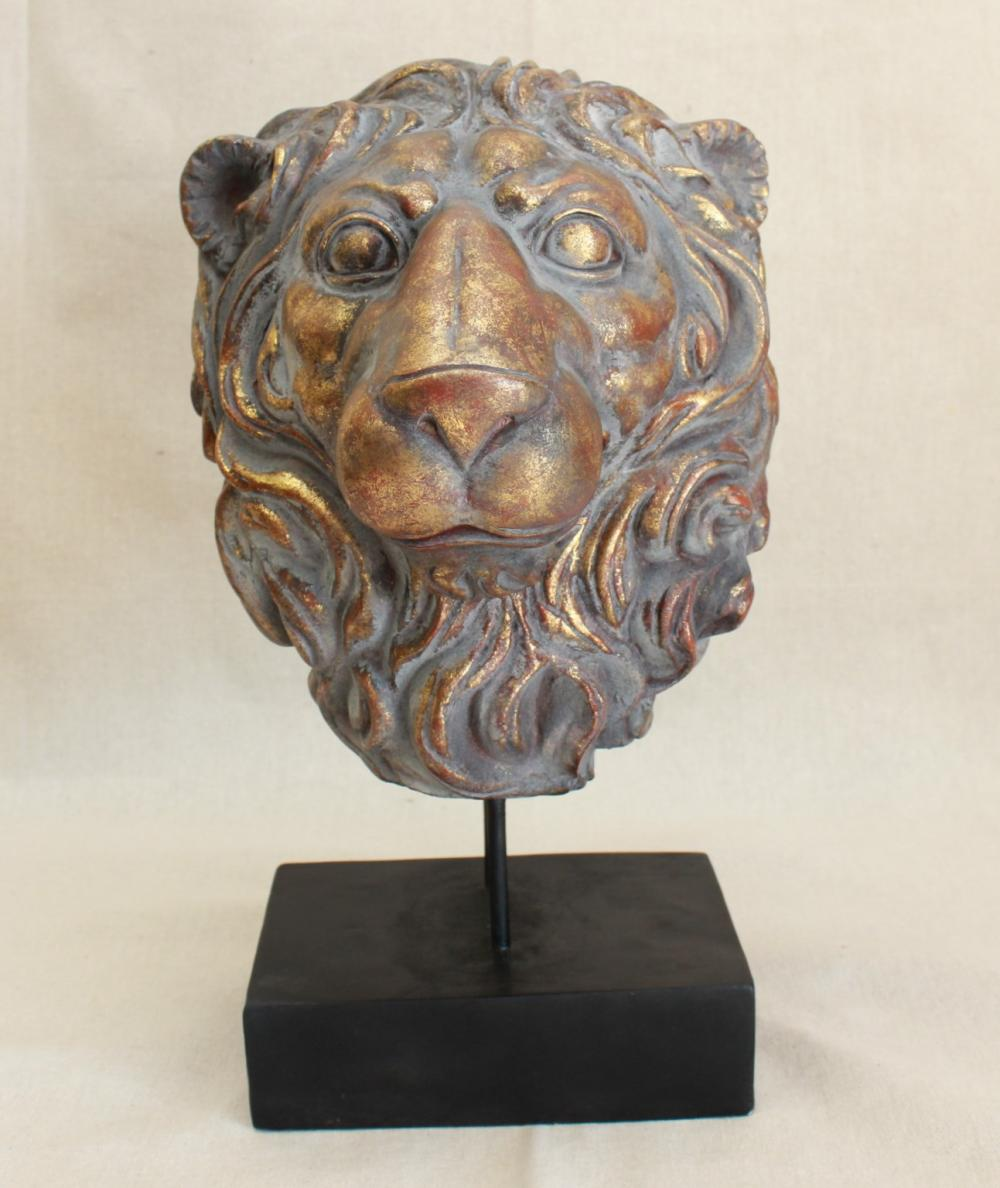 Lion Head on Stand