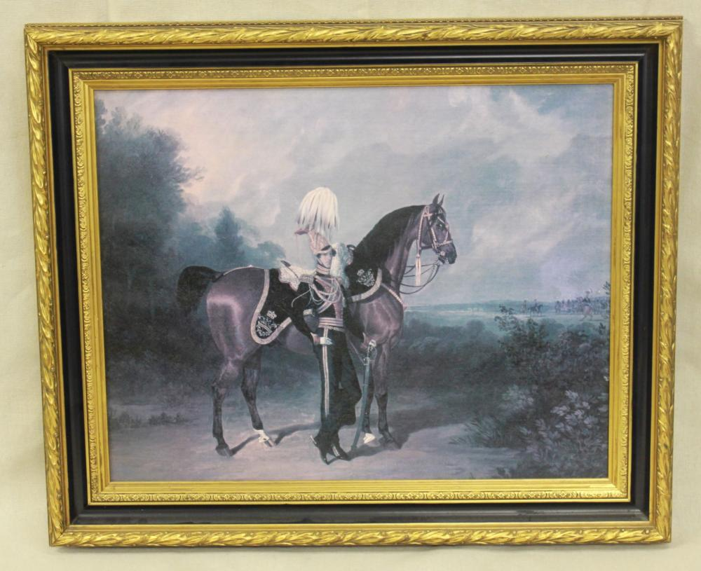 Giclee Napoleonic Army Officer with Horse