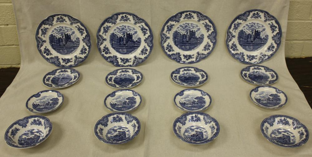 16 Pieces of Johnson Brothers Old Britain Castles China