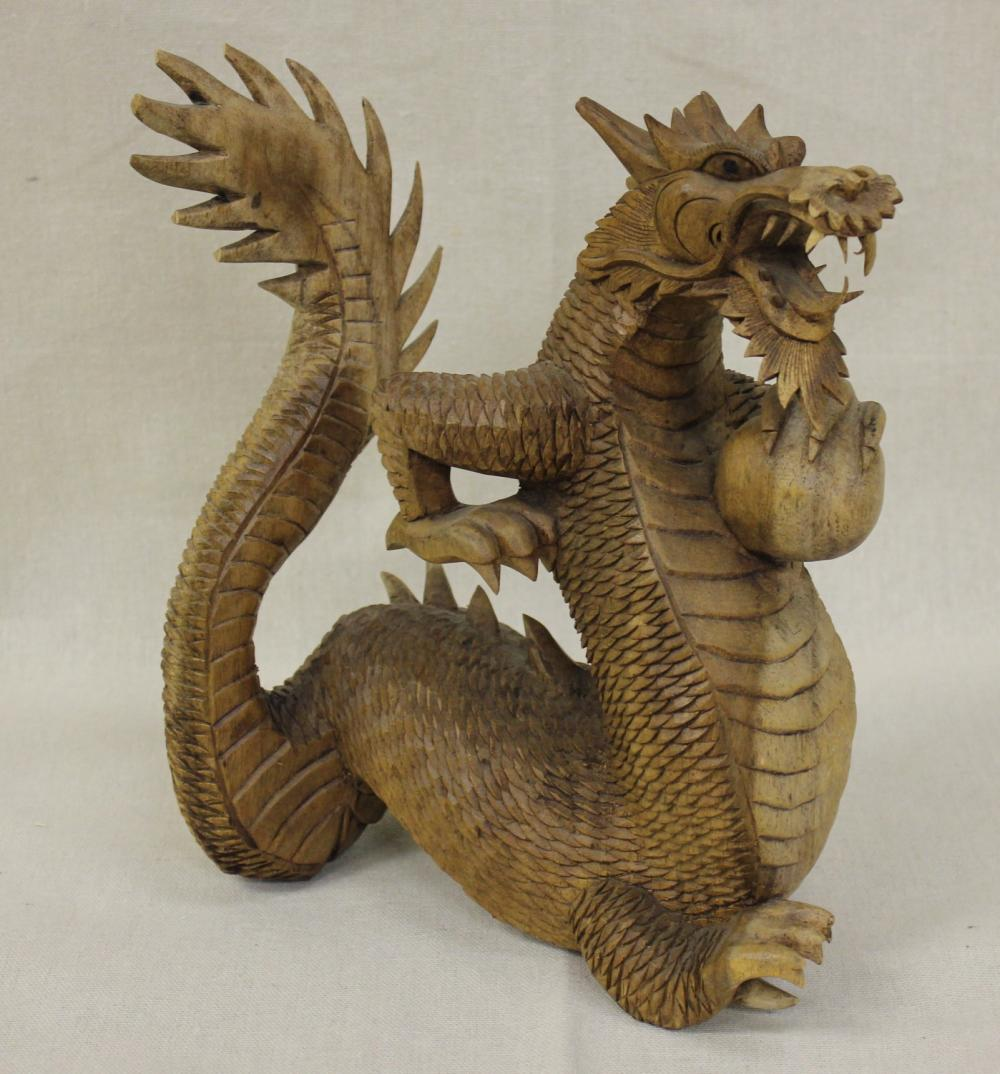 Carved Wooden Dragon