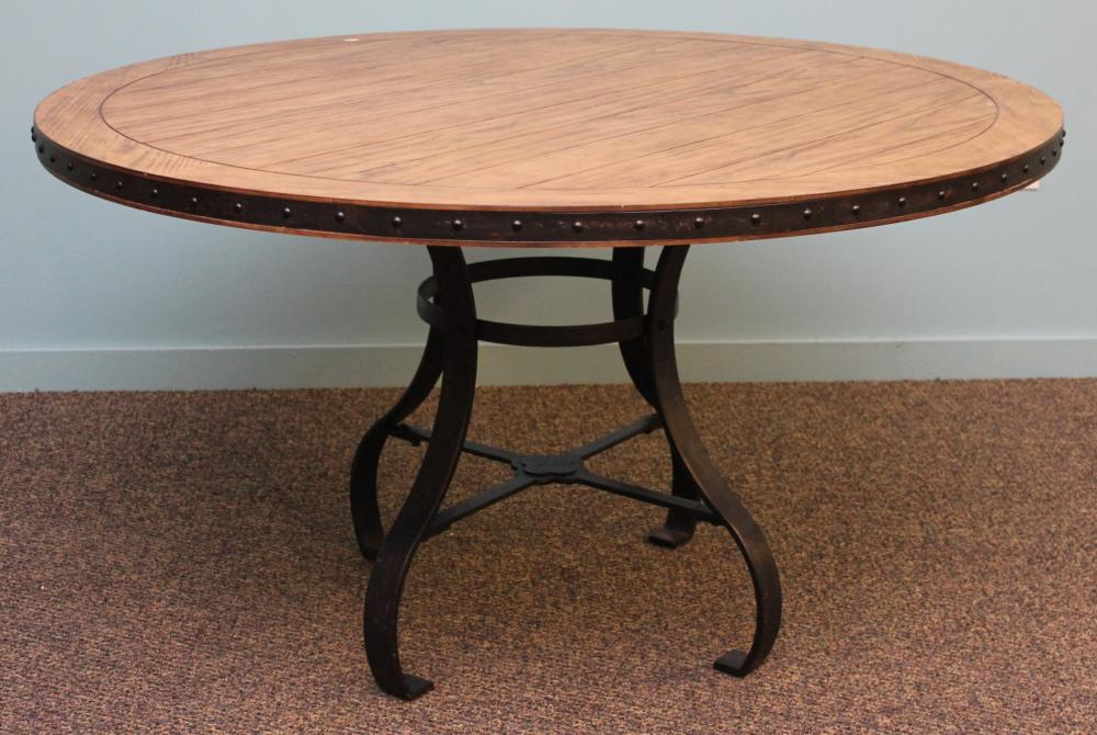 "Riverside Furniture 54"" Round Table with Metal Base"