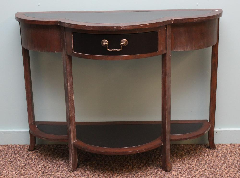 Demilune One Drawer Console Table