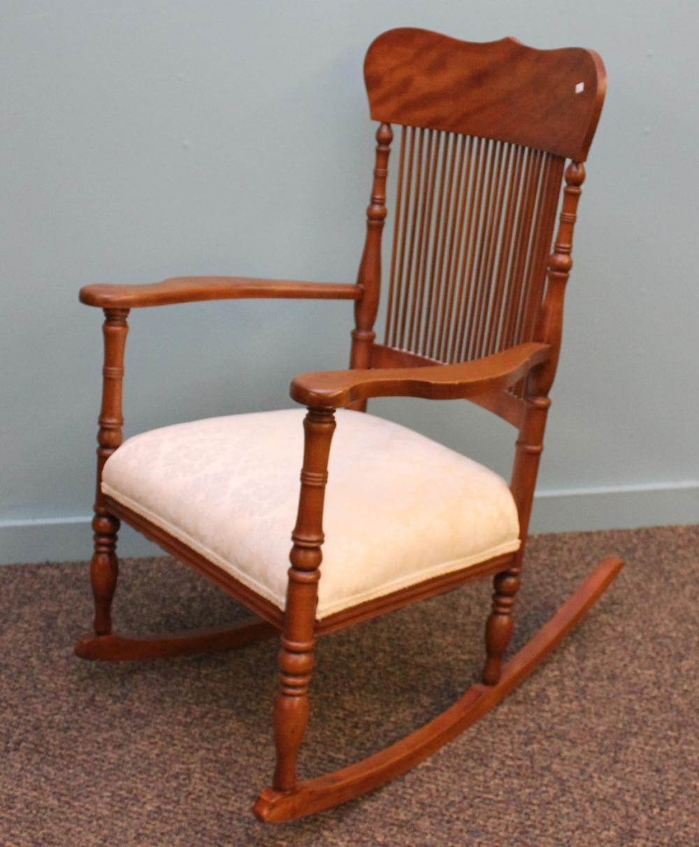 Antique Comb Back Rocking Chair