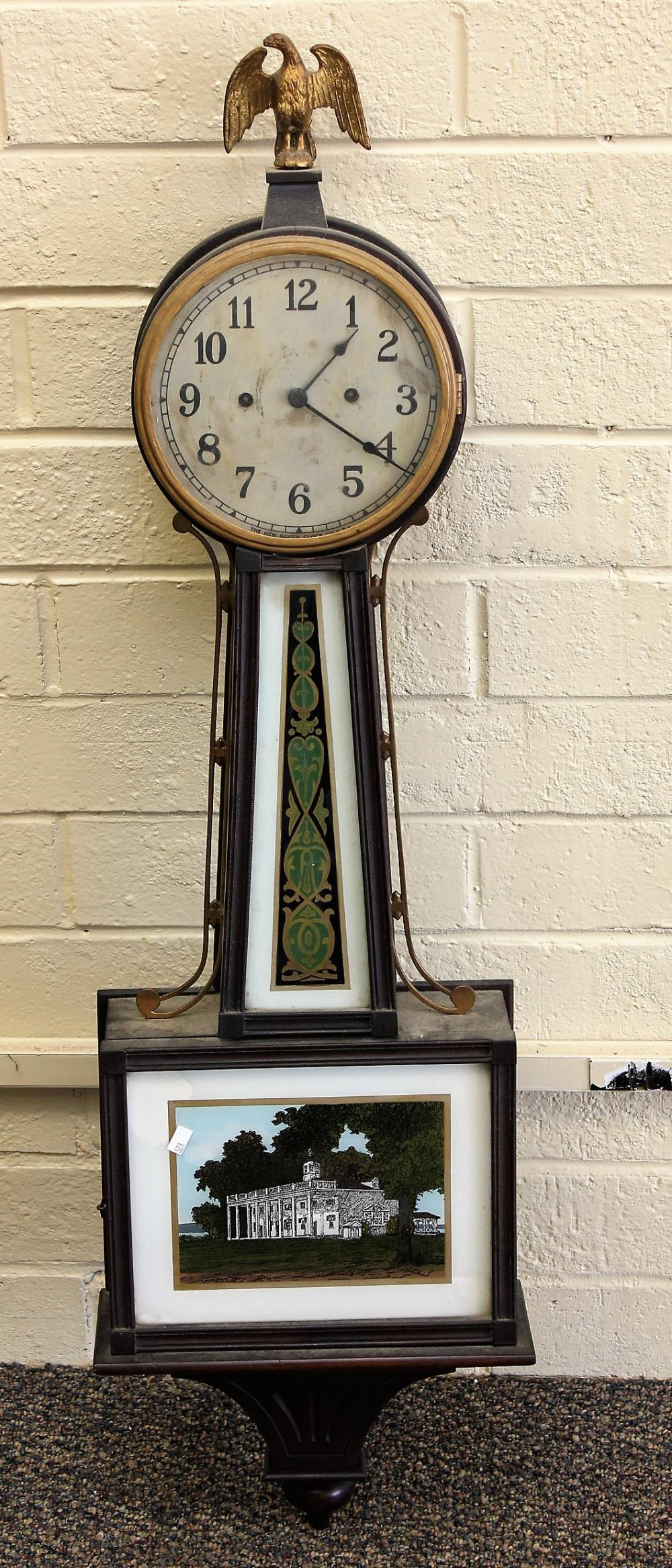 30 Day Willard Banjo Clock by New Haven Clock Co
