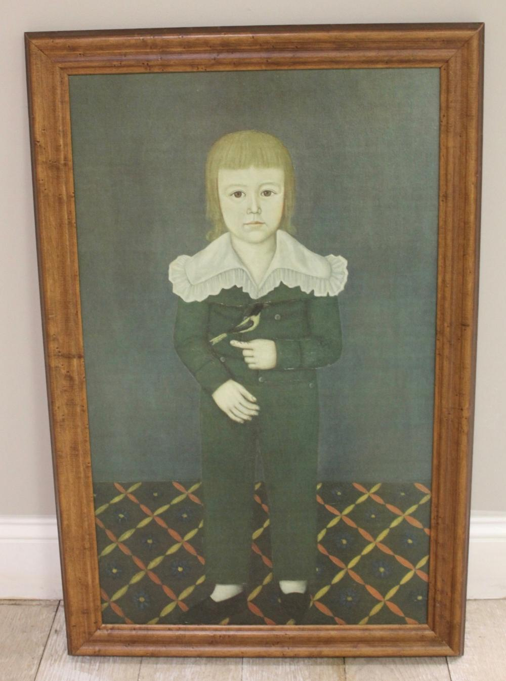 Oil On Canvas Quot Boy With Finch Quot By John Brewster Jr