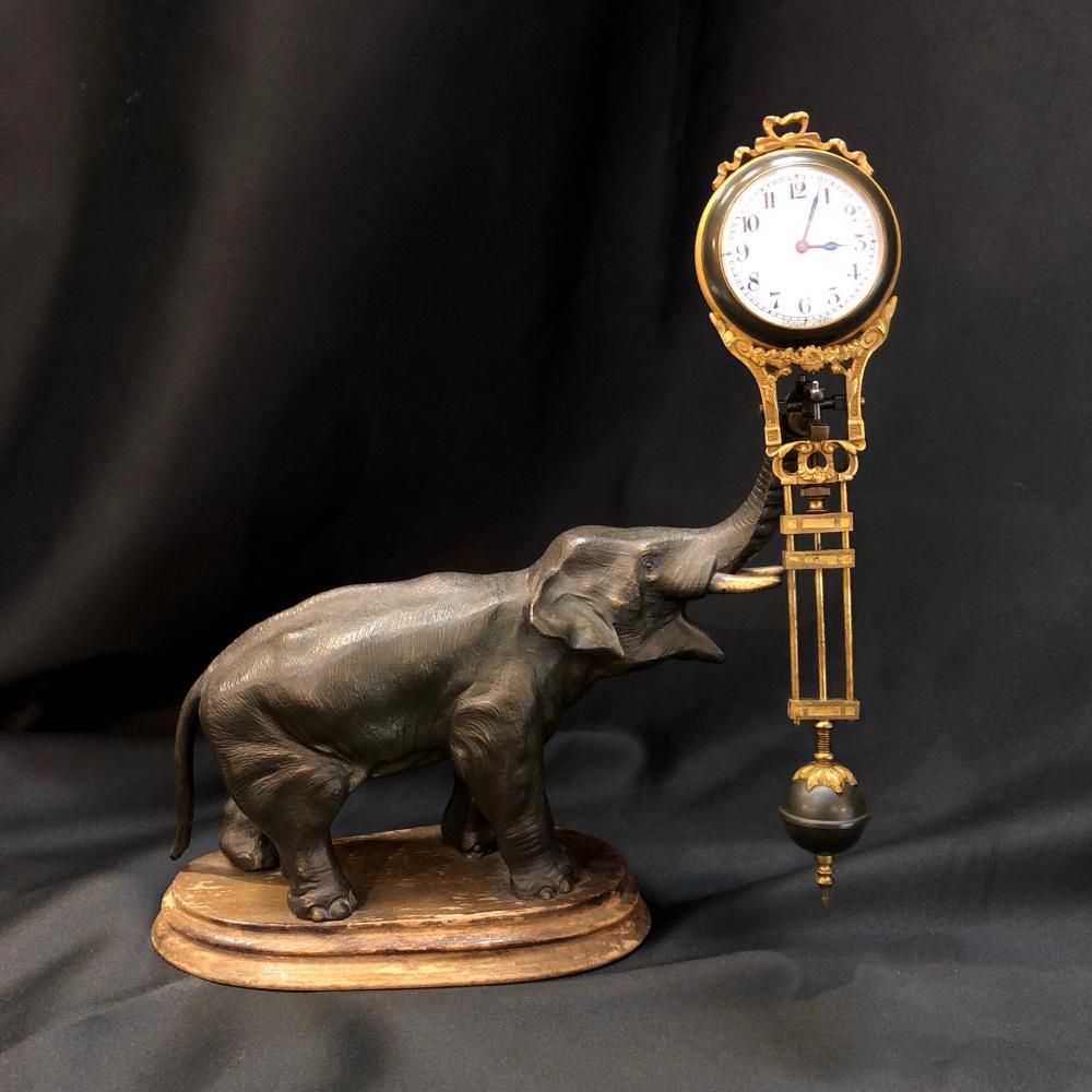 Junghans figural elephant swinger mantel clock price guide