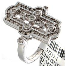 Genuine 18K White Gold 0.79ctw Diamond Ring