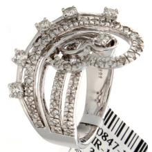 Genuine 14K White Gold 1.21ctw Diamond Ring