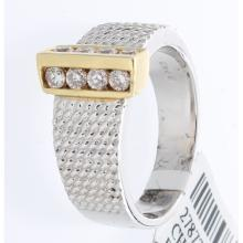 Genuine 14K 2Tone Gold 0.40ctw Diamond Ring
