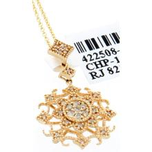 Genuine 14K Yellow Gold 0.15ctw Diamond Pendant
