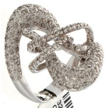Genuine 14K White Gold 2.22ctw Diamond Ring