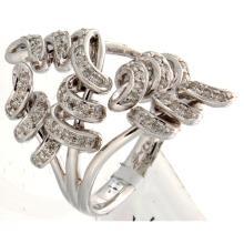 Genuine 14K White Gold 0.71ctw Diamond Ring