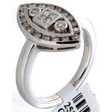 Genuine 18K White Gold 0.50ctw Diamond Ring