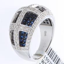 Genuine 14K White Gold 2.21ctw Sapphire & Diamond Ring