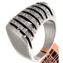 Genuine 18K White Gold 0.65ctw Diamond Ring