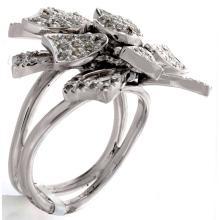 Genuine 14K White Gold 0.96ctw Diamond Ring