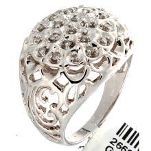 Genuine 14K White Gold 0.25ctw Diamond Men's Ring