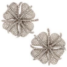 Genuine 14K White Gold 4.85ctw Diamond Earrings