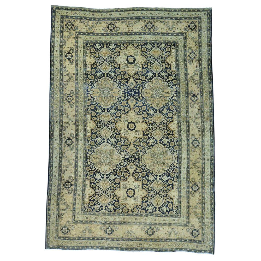 Antique Persian Kerman Exc Cond Hand Knotted Oriental Rug