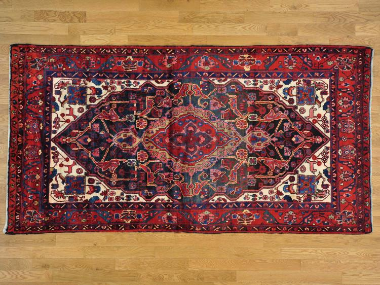 Persian Nahavand Gallery Size Mint Cond Hand Knotted Oriental Rug