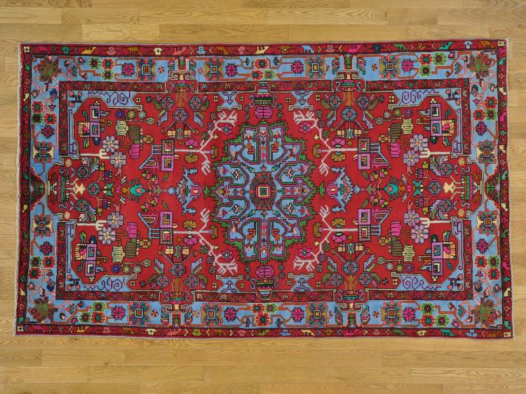 Full Pile Persian Nahavand Hand Knotted Oriental Rug