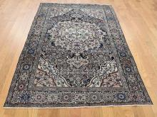 Antique Persian Fereghan Sarouk Dense Weave Even Wear Hand-Knotted Rug