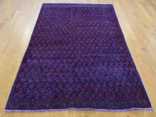 Hand-Knotted Vintage Overdyed Persian Sarouk Oriental Rug