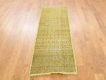 Hand-Knotted Vintage Overdyed Persian Sarouk Mir Rug