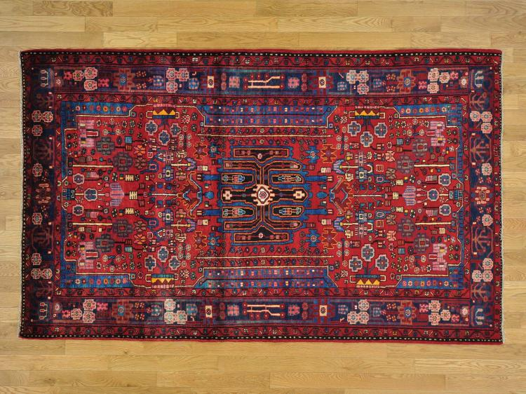 Full Pile Pure Wool Persian Nahavand Hand Knotted Oriental Rug