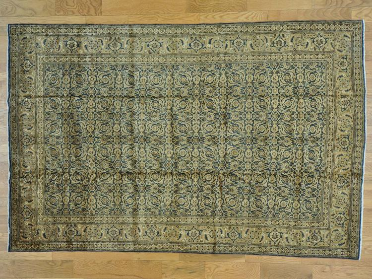 Antique Persian Tabriz Full Pile Exc Cond Hand Knotted Rug