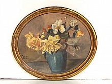 STILL LIFE PAINTING OF FLOWERS