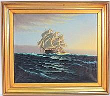 KURT URION MARINE PAINTING CLIPPER SHIP